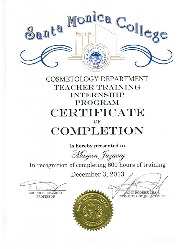 Santa Monica College Certification