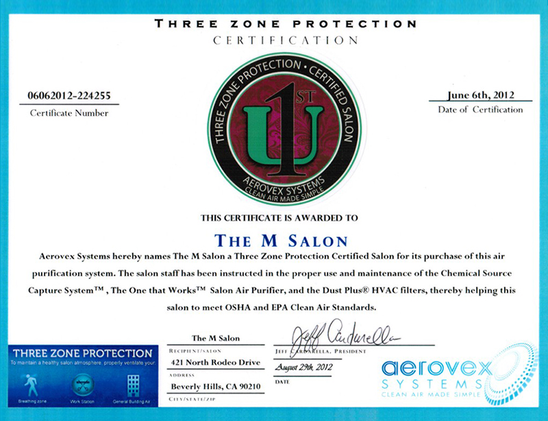 Three Zone Protection Certificate